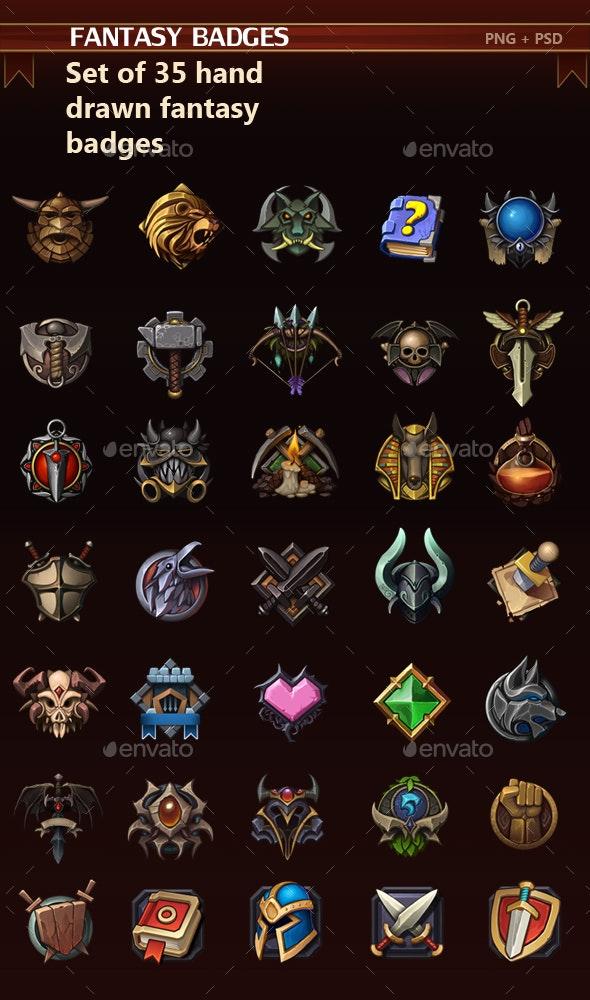 Fantasy Badges