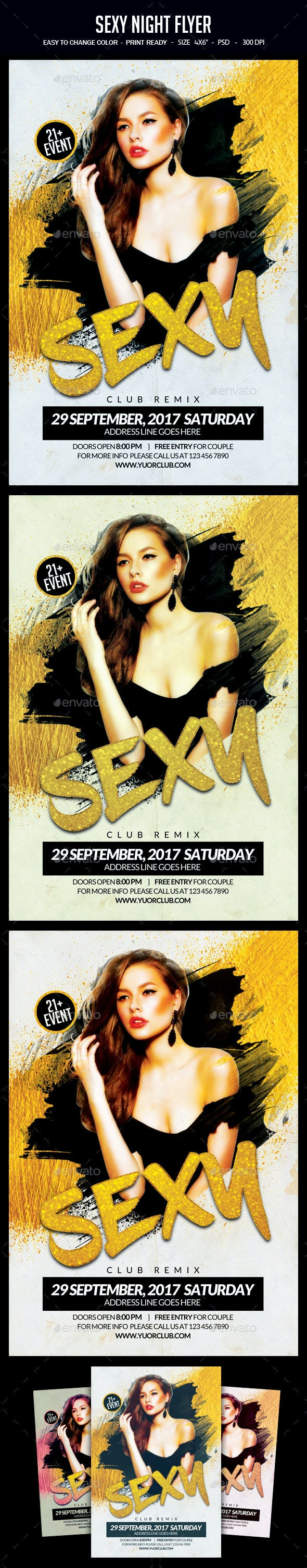 Sexy Night Flyer - Clubs & Parties Events
