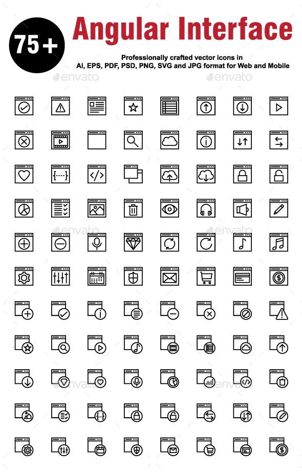 Angular Interface Line Icons - Icons
