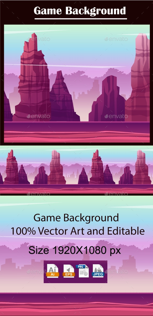 Game Background Mountain - Backgrounds Game Assets