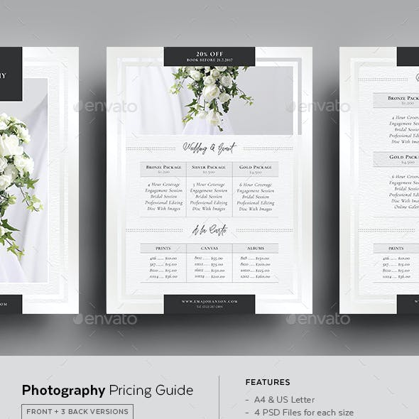 Pricing Guide Graphics, Designs & Templates from GraphicRiver