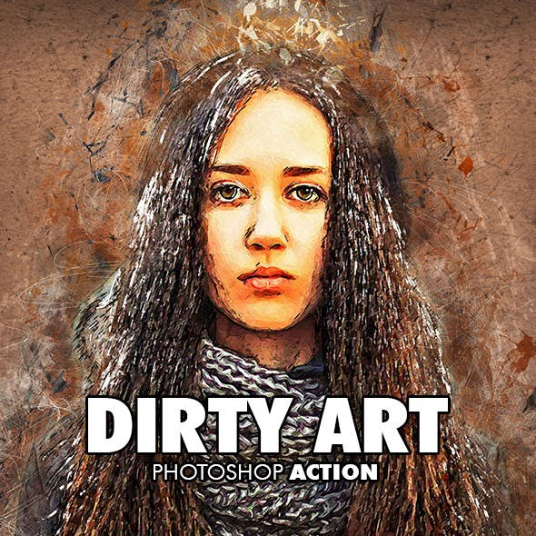 Dirty Art Photoshop Action