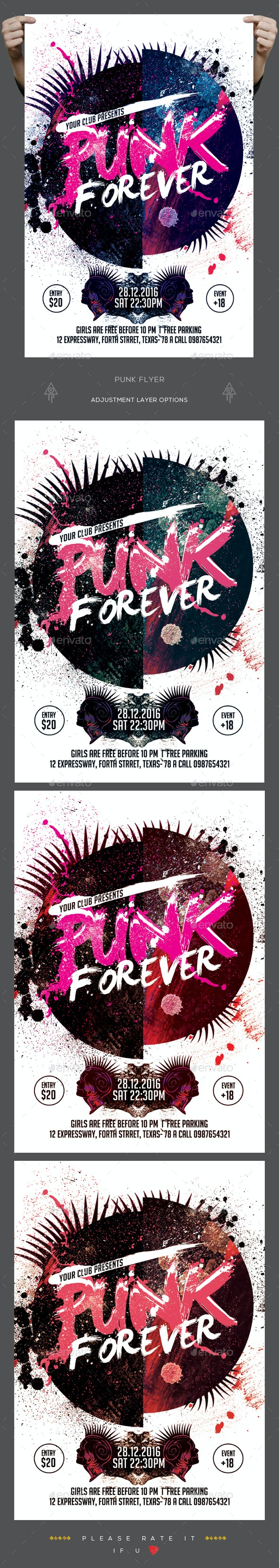 Punk Flyer - Clubs & Parties Events