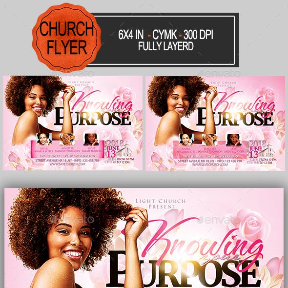Knowing Your Purpose Church Flyer