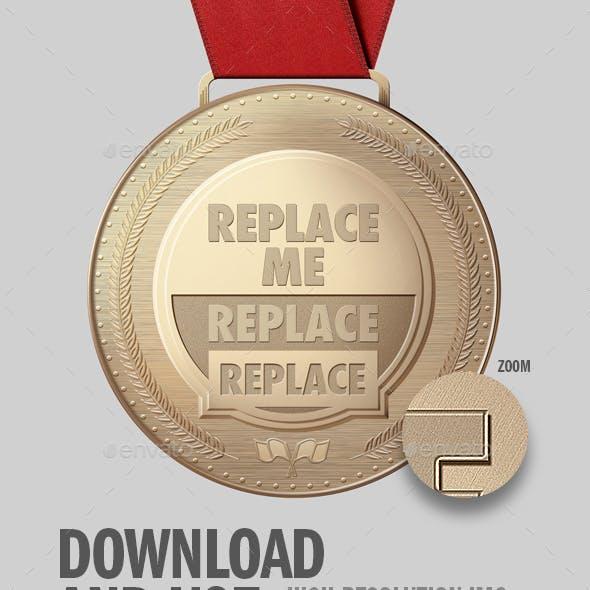 Medal PSD Mockup
