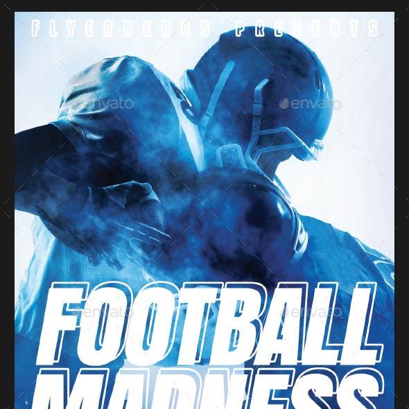 Football Madness 2K17 Sports Flyer