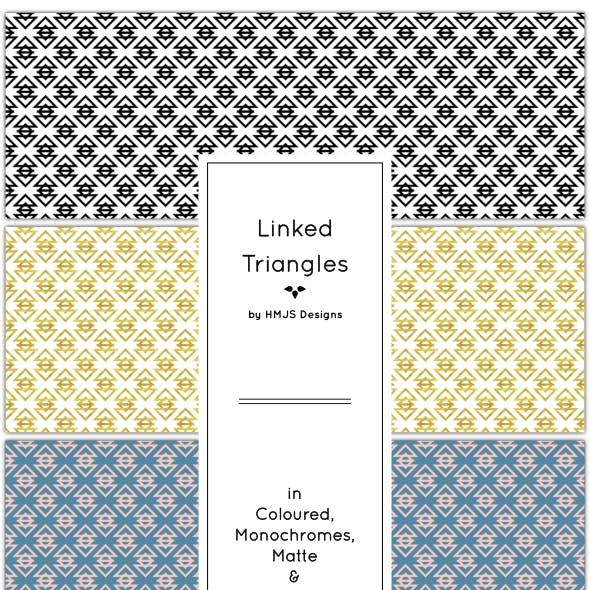 Linked Triangles Pattern Set