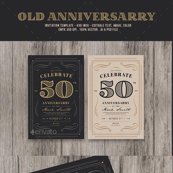 Vintage Anniversarry Invitation