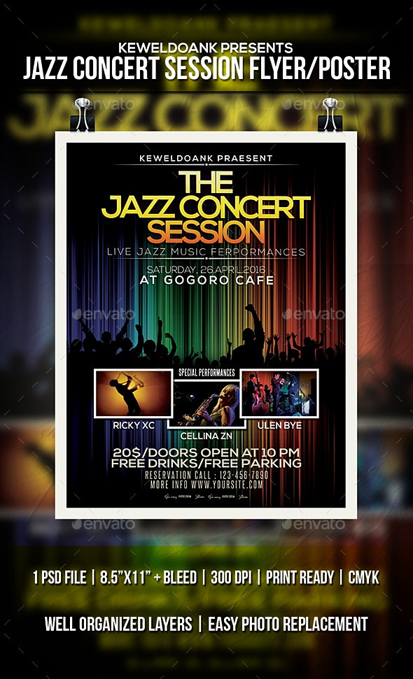 Jazz Concert Session Flyer / Poster - Events Flyers