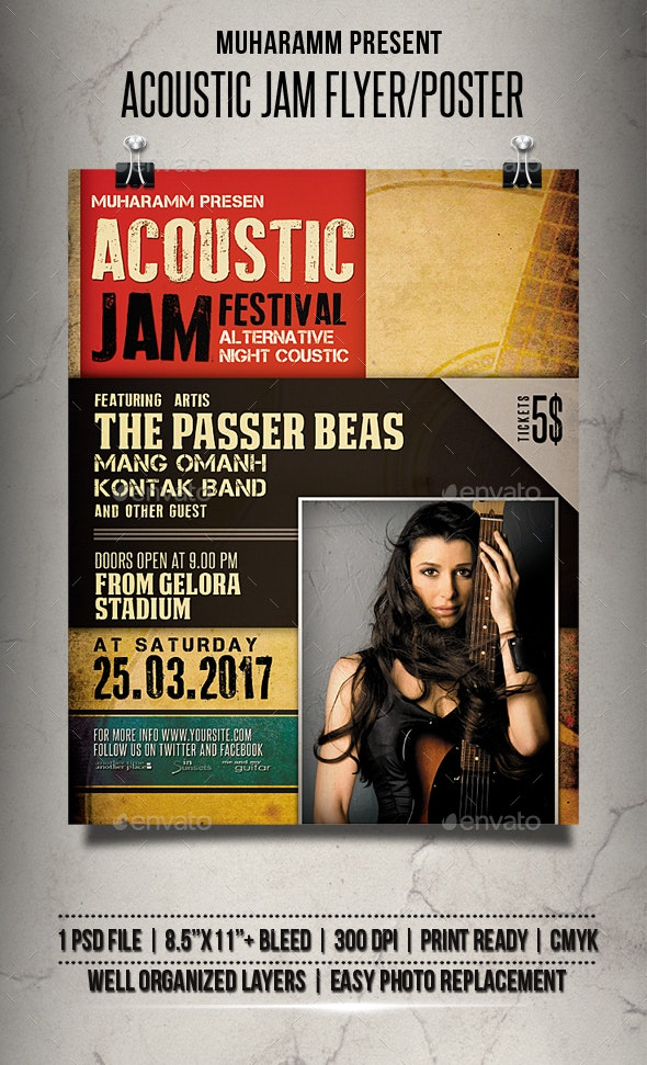 Acoustic Jam Flyer / Poster - Events Flyers