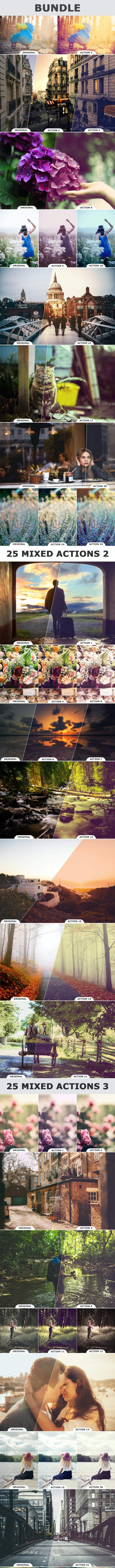 75 Mixed Actions Bundle - Photo Effects Actions