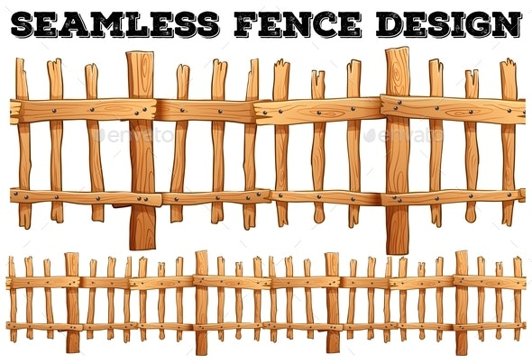 Seamless Classic Wooden Fence Design - Miscellaneous Vectors