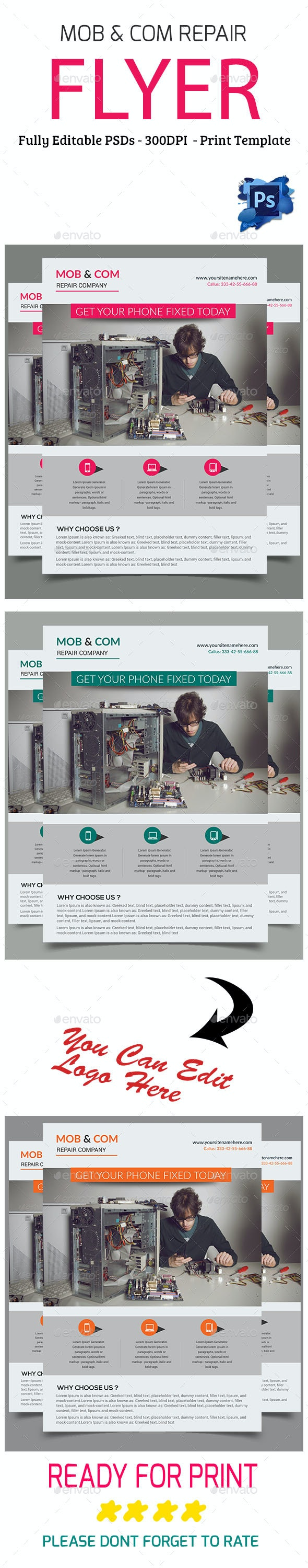Mobile & Computer Repair Flyer - Flyers Print Templates