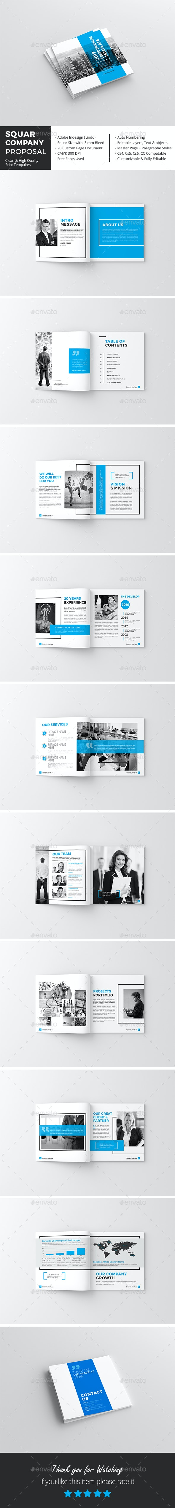 Squar Company Proposal Template - Corporate Brochures