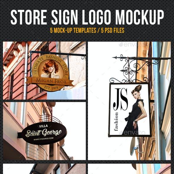 Store Shop Sign Logo Mockup