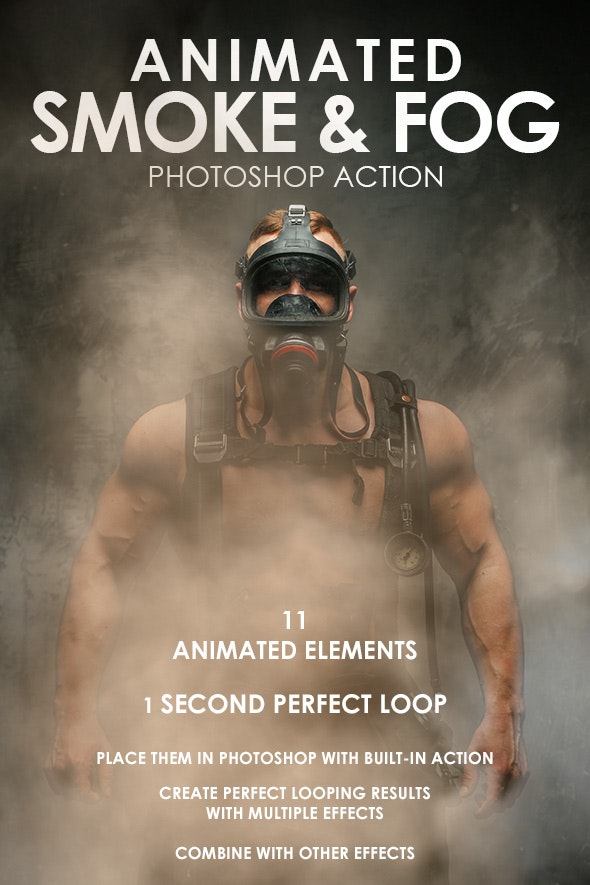 Animated Smoke & Fog Photoshop Action - Photo Effects Actions