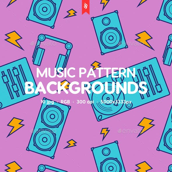 Funny Music Pattern Backgrounds