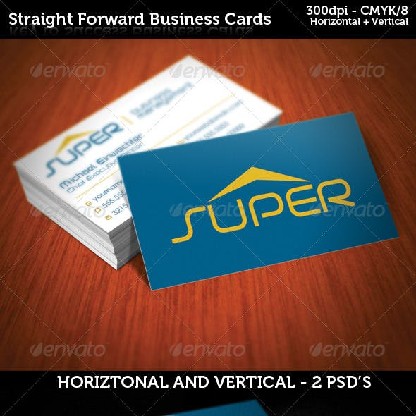 Straight Forward Business Cards