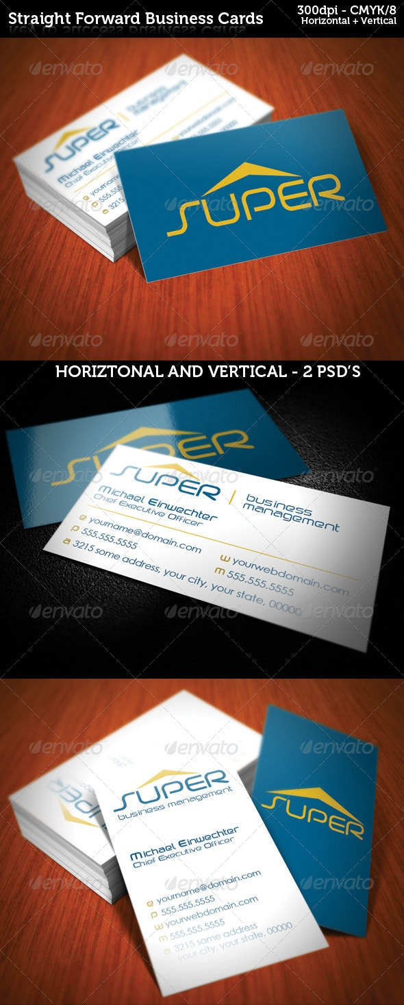 Straight Forward Business Cards - Corporate Business Cards