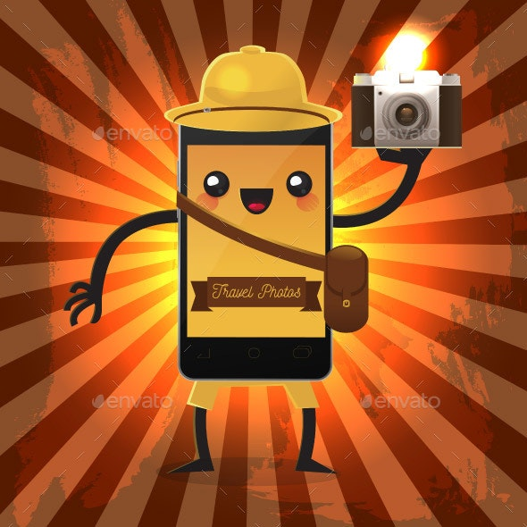 Mobile Phone Character with Camera - Miscellaneous Characters