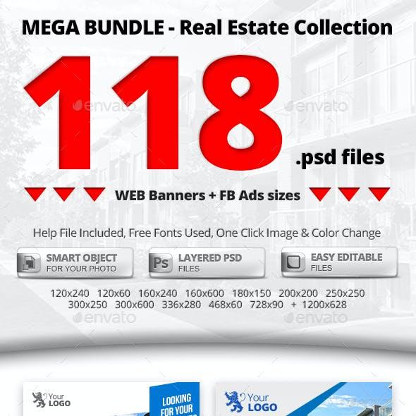 10 in 1 Real Estate Web & FB Banners - Mega Bundle 1