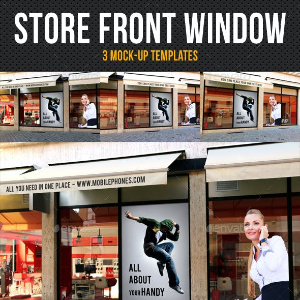 Store Front Window Mock-Up Pack 03