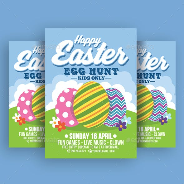Happy Easter Egg Hunt For Kids