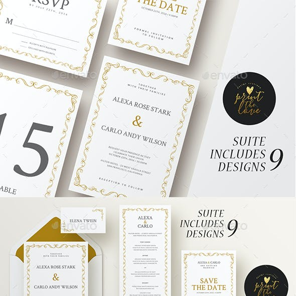 Wedding Invitation Suite - Alexa