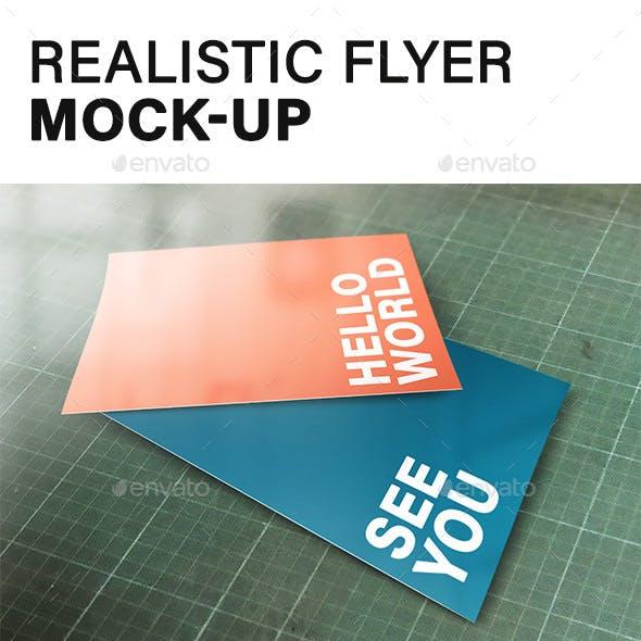 Realistic Flyer Mock-up