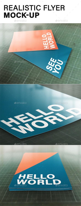 Realistic Flyer Mock-up - Flyers Print