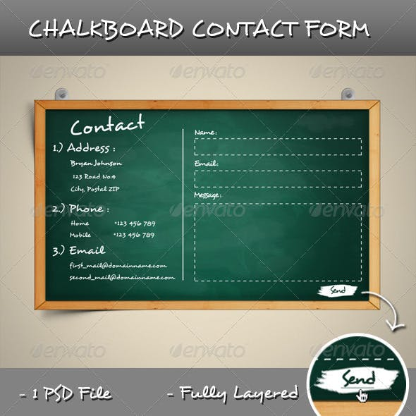 Chalkboard Contact Form