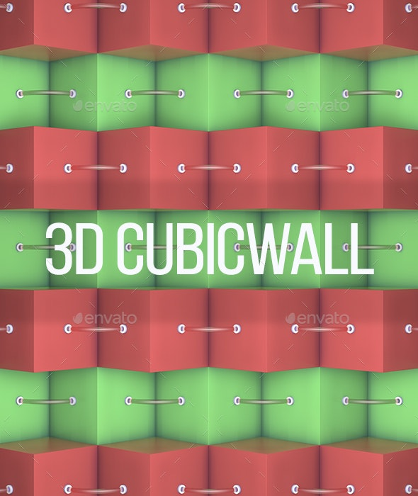 3D Cube Wall - 3D Backgrounds