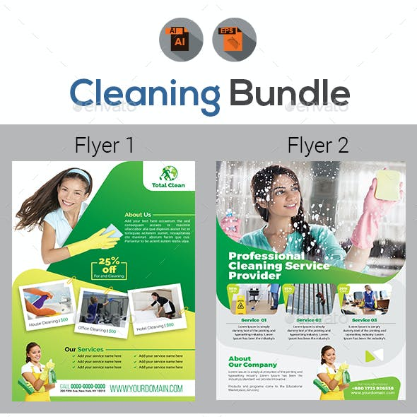 Cleaning Flyer Bundle