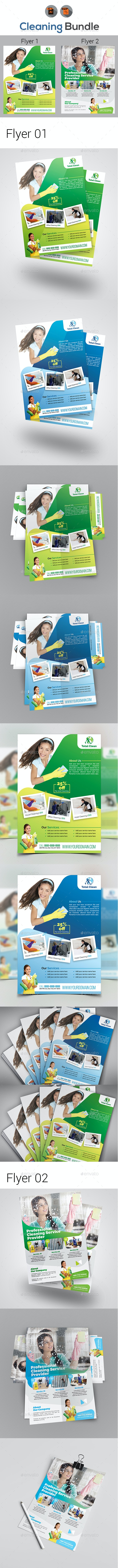 Cleaning Flyer Bundle - Commerce Flyers