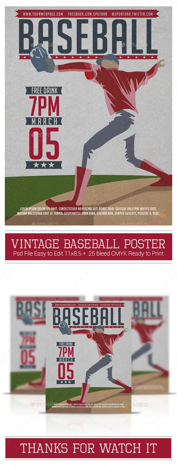 Baseball Poster - Sports Events