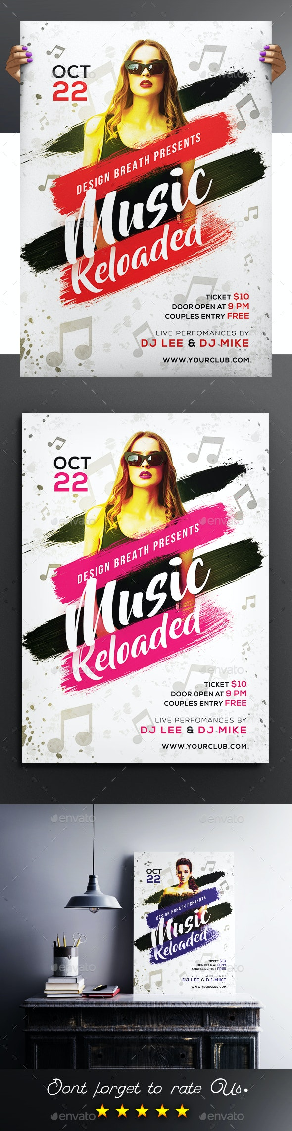 Music Reloaded Party Flyer / Poster - Clubs & Parties Events