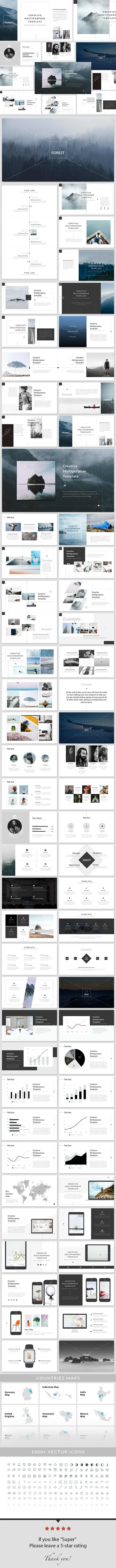 Forest - Keynote Presentation Template - Creative Keynote Templates