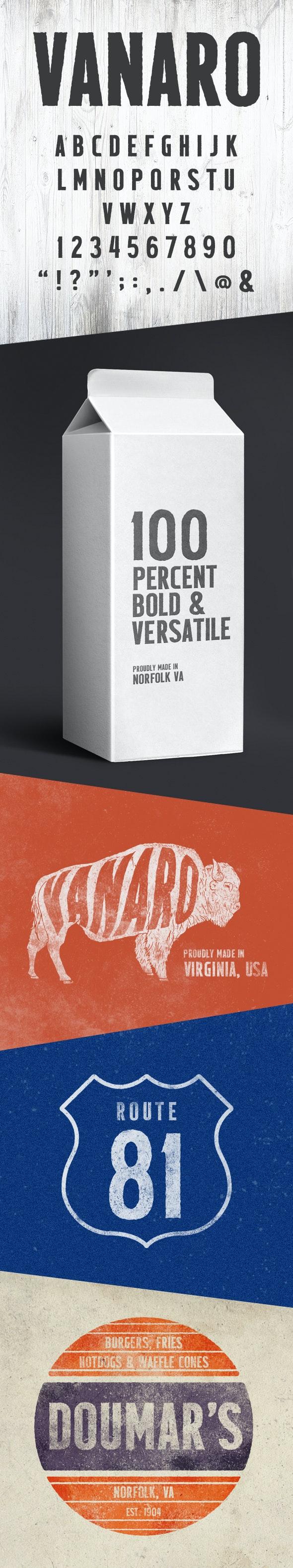 VANARO - Fonts
