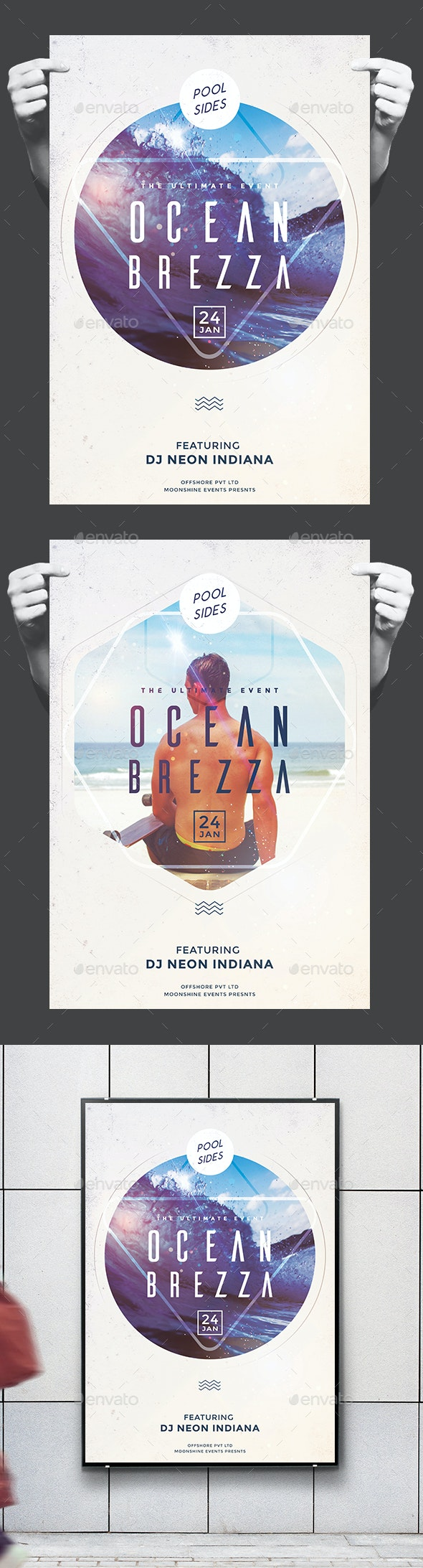 Beach Party Flyer/Poster - Clubs & Parties Events