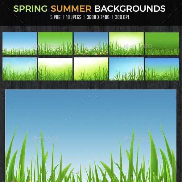 Spring Summer Backgrounds