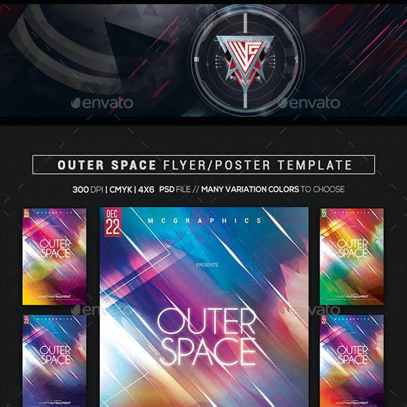Outer Space Flyer/ Poster Template