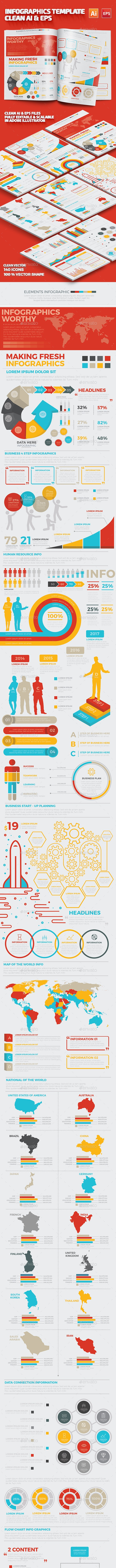 Infographics Template Design - Infographics