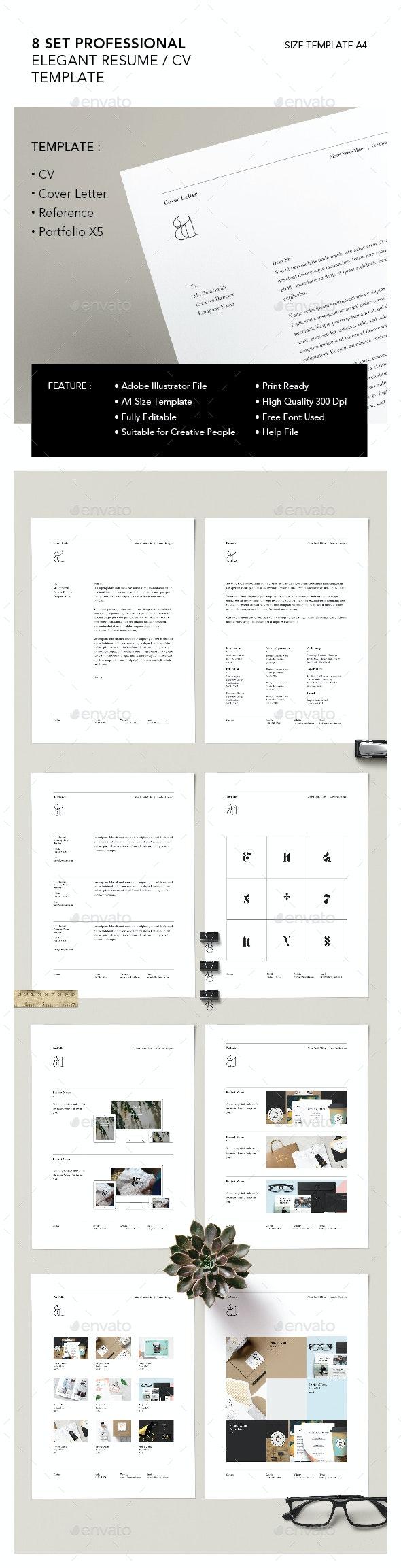 X8 ELEGANT RESUME - Resumes Stationery