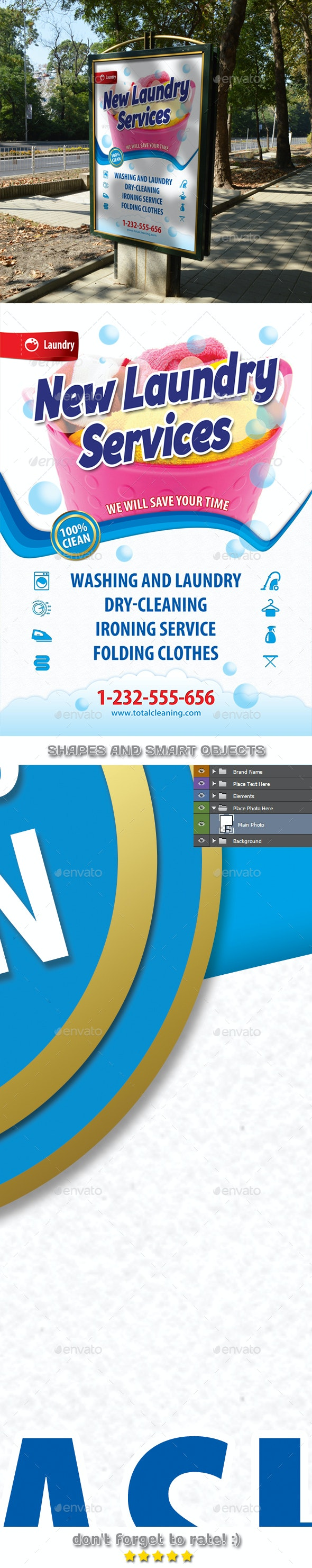New Laundry Services Poster Template 47 - Signage Print Templates
