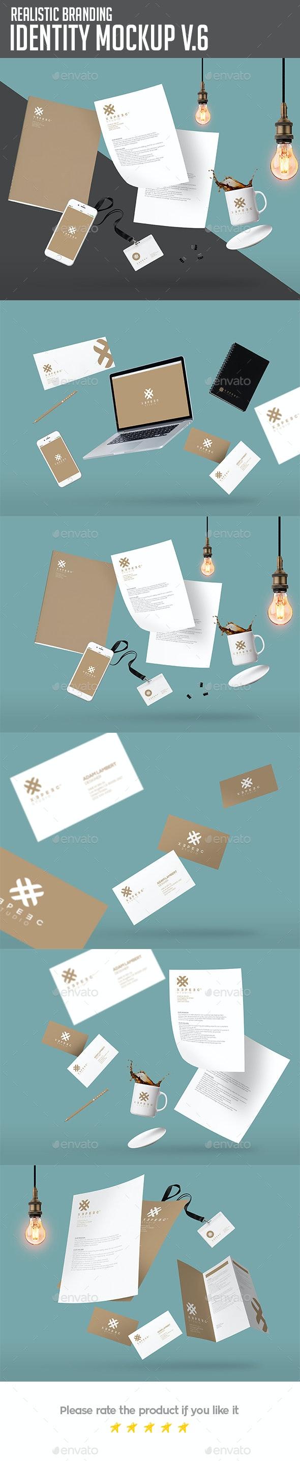 Branding & Identity Design Mockups - Stationery Print