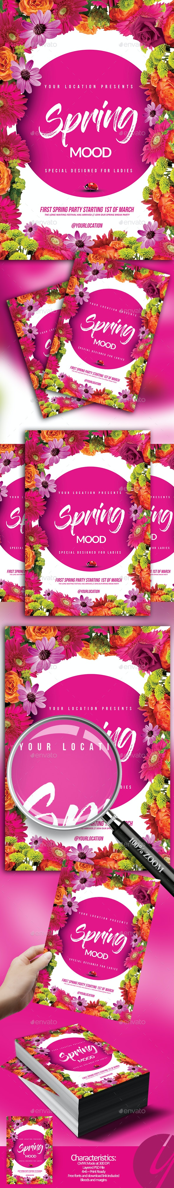 Spring Mood Flyer - Holidays Events