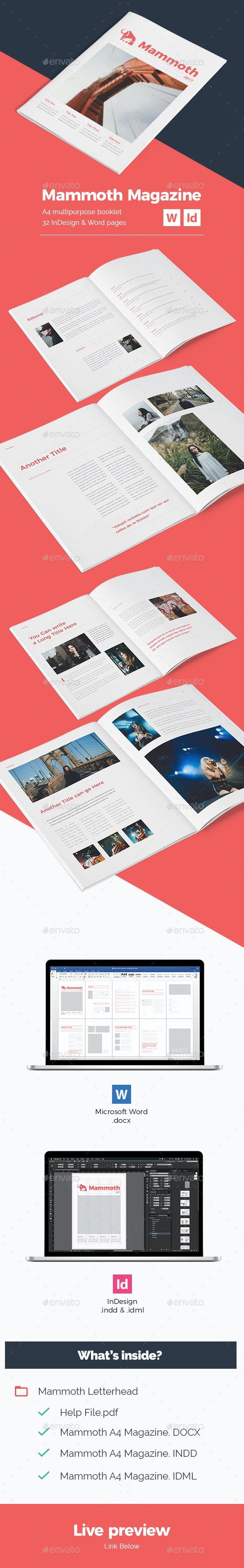 Mammoth A4 Magazine - Magazines Print Templates