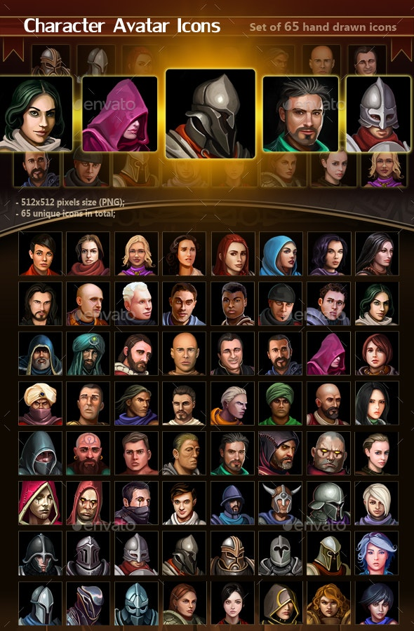 Character Avatar Icons - Miscellaneous Game Assets
