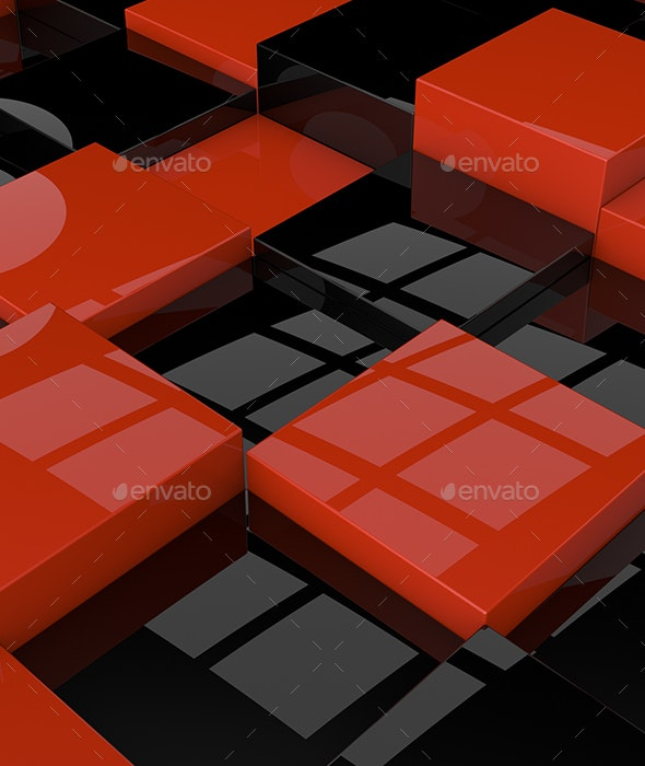Reflection Cubes - Backgrounds Graphics