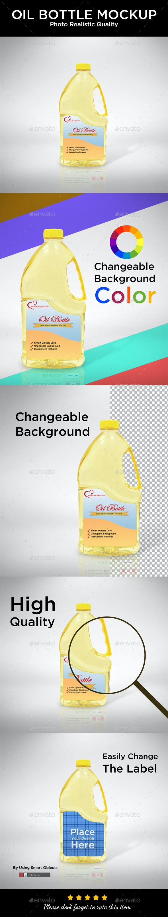 Oil Bottle Label Mockup - Packaging Product Mock-Ups